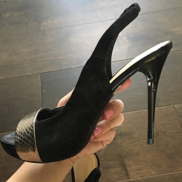 charles and keith black pumps